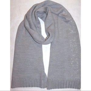 🆕 Michael Kors Knit Scarf Silver Grey Soft